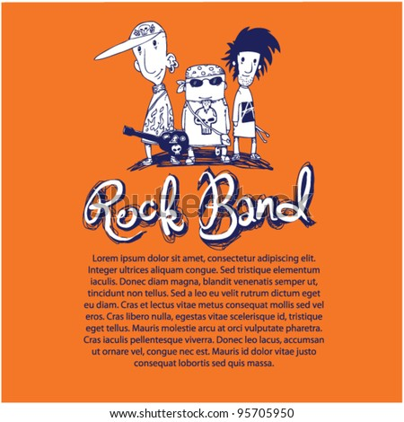 rock band vector poster - stock vector