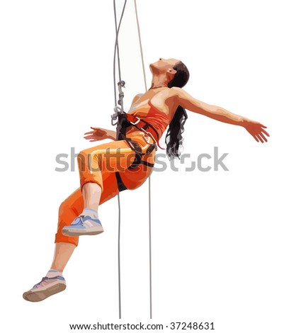 rock climber - stock vector