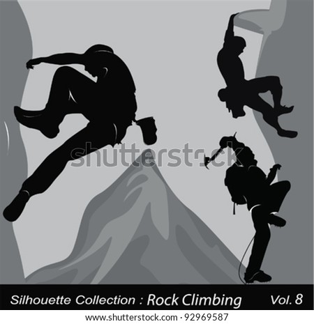 Rock climbing .Vector illustration - stock vector