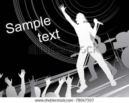 rock concert - stock vector