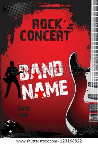 Rock Concert Poster Stock Vector 123166822