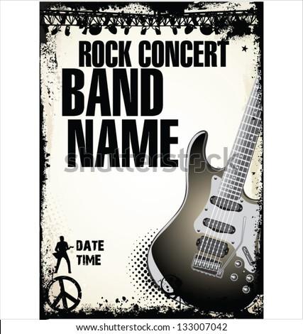 Rock Concert Poster Stock Vector 133007042