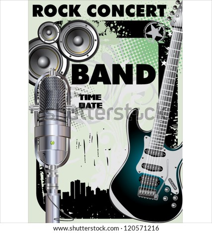 Rock concert - Public viewing - stock vector
