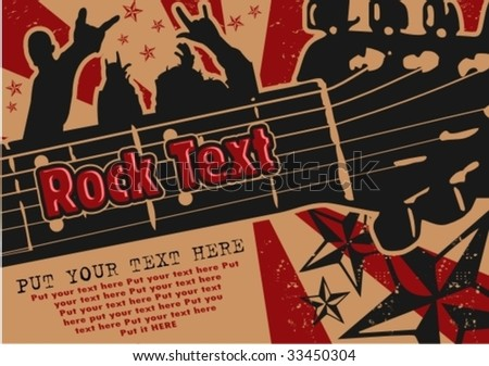rock event poster - stock vector