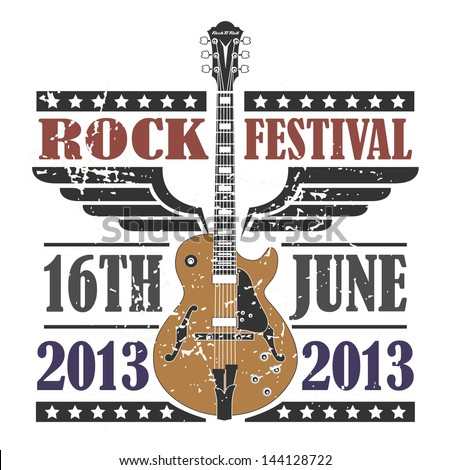 Rock Festival Stamp - stock vector