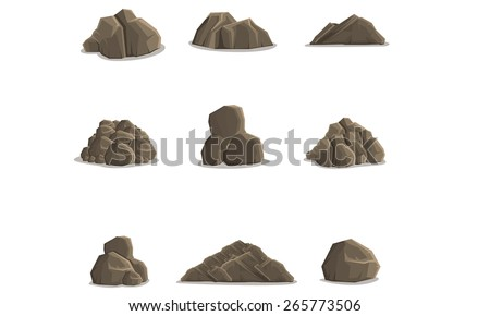 Rock Formations - stock vector