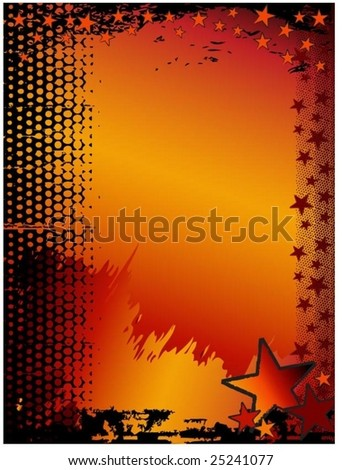 rock grunge vector star background with space for text - stock vector