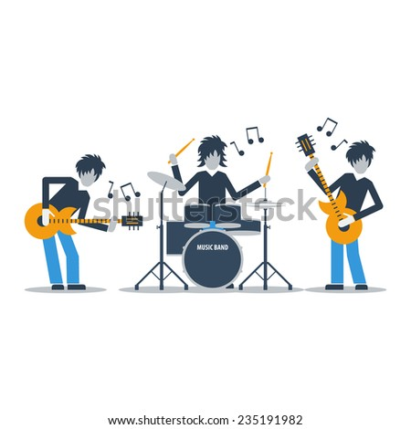 rock music band - stock vector