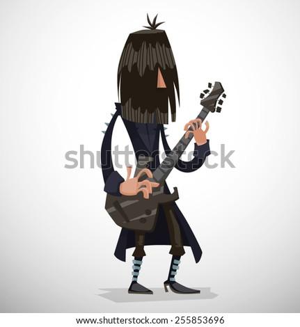 Rock musician, vector - stock vector