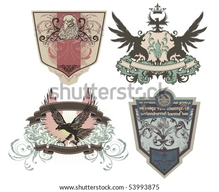 Rock 'n Roll labels/headers - stock vector