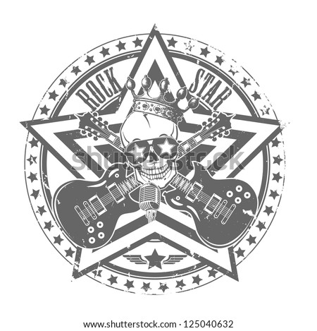 Rock'n'roll stamp. Vector illustration - stock vector