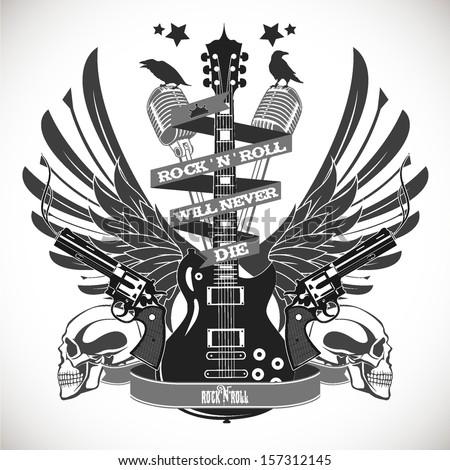 Rock N Roll Symbol Stock Vector Royalty Free 157312145 Shutterstock