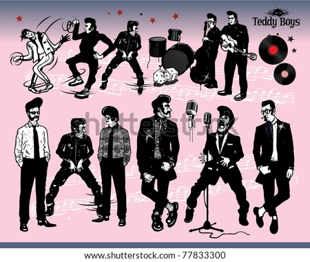 Rock N' Roll - Teddy Boys - stock vector