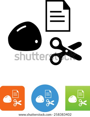 Rock paper scissors symbol for download. Vector icons for video, mobile apps, Web sites and print projects. - stock vector