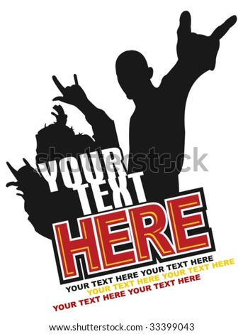rock/party poster or tshirt design - stock vector