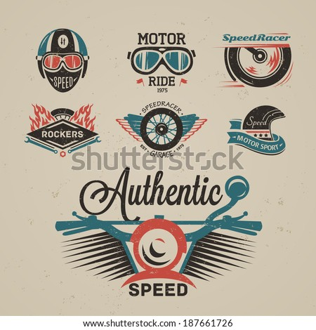 Rock themed badges. Vector  - stock vector
