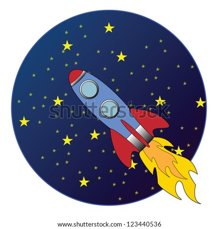 Rocker flying trough Space vector