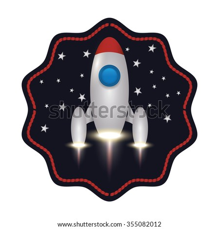 Rocket  concept over design, vector illustration 10 eps graphic.