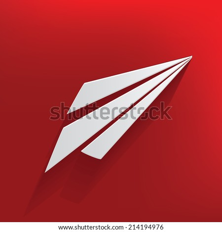 Rocket design on red background,clean vector - stock vector