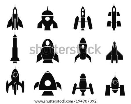 rocket icons - stock vector