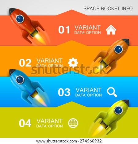 Rocket racing info art cover. Vector Illustration - stock vector