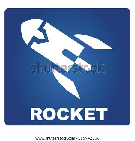 rocket signage, rocket sign - stock vector