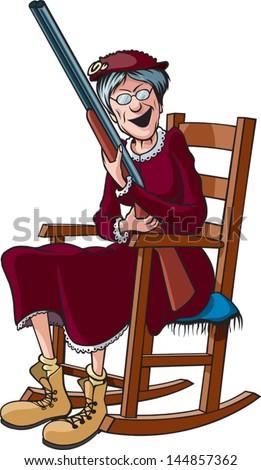 Cartoon Granny Stock Photos, Illustrations, and Vector Art