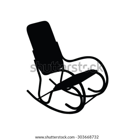 Superieur Rocking Chair Vector Silhouette