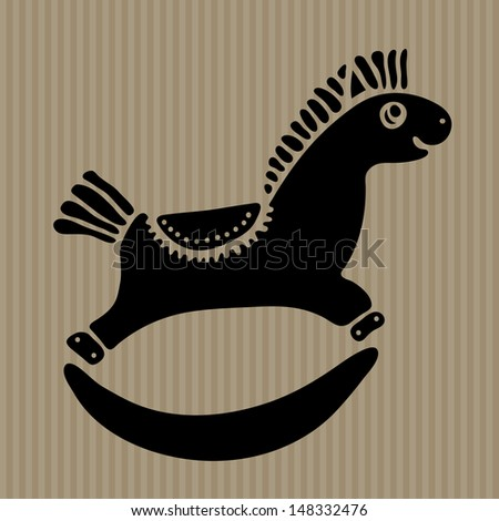 Rocking horse. Vector art - stock vector