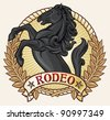 rodeo label (rodeo design) - stock vector