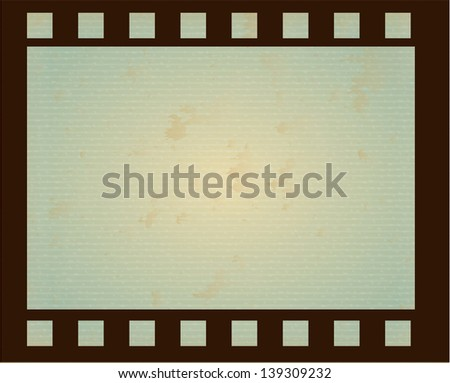 roll of film over blue background vector illustration - stock vector