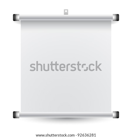 roll up banner against white background; abstract vector art illustration; image contains transparency - stock vector