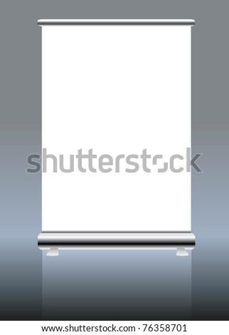 roll up banner display, blank , vector format - stock vector