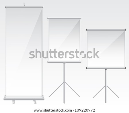 Roll up banner glass illustration - stock vector