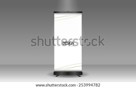 Roll up banner stand of design, Vector. - stock vector
