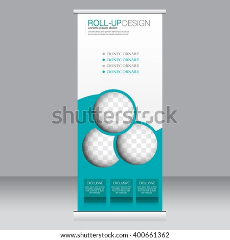 roll banner stand template abstract background ベクター画像素材