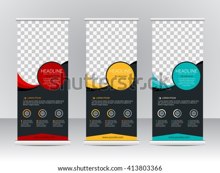 Roll Up Banner Stock Images, Royalty-Free Images & Vectors ...