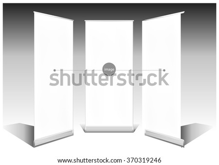 Roll Up Banner Template - stock vector