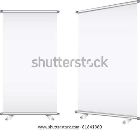 roll up banner vector - stock vector