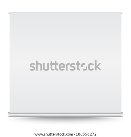 Roll up banner vector on isolated white background - stock vector