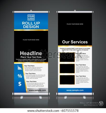 roll brochure flyer banner design template stock vector 607551578 shutterstock. Black Bedroom Furniture Sets. Home Design Ideas