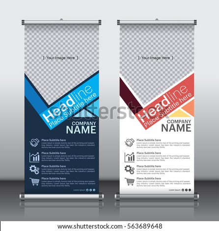 Roll Brochure Flyer Banner Design Template Stock Vector 563689648 ...