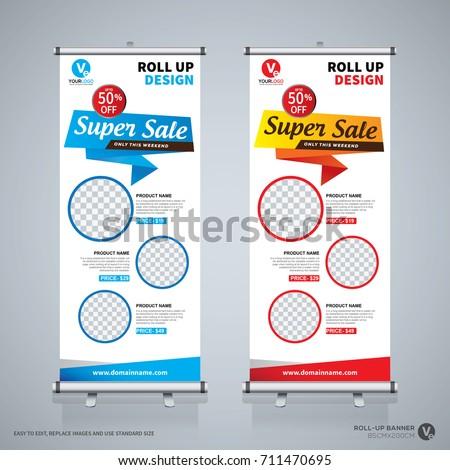 roll sale banner design template abstract stock vector 711470695 shutterstock. Black Bedroom Furniture Sets. Home Design Ideas