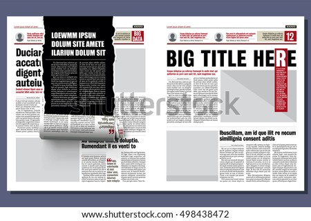 Rolled Ribbon Newspaper Revealing Hidden Story Stock Vector