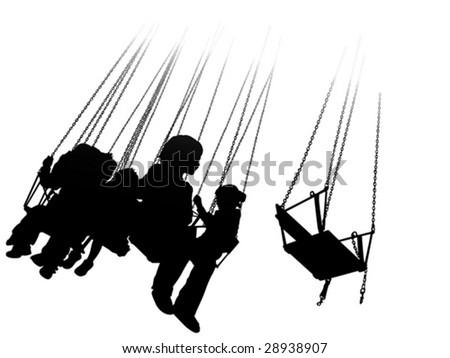roller coaster - stock vector