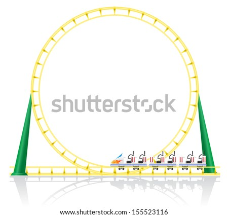 roller coaster vector illustration isolated on background - stock vector