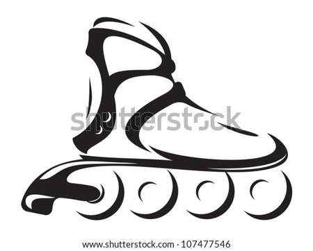 roller skate - stock vector
