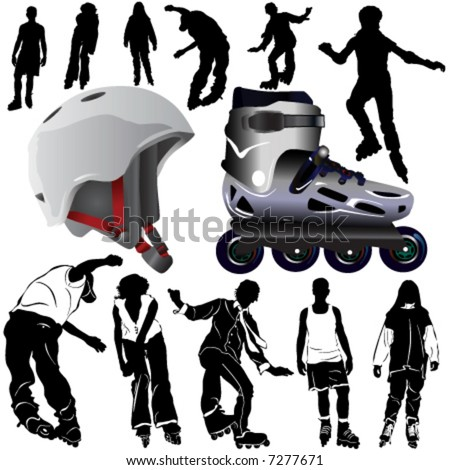rollerblade vector (clothes detail)