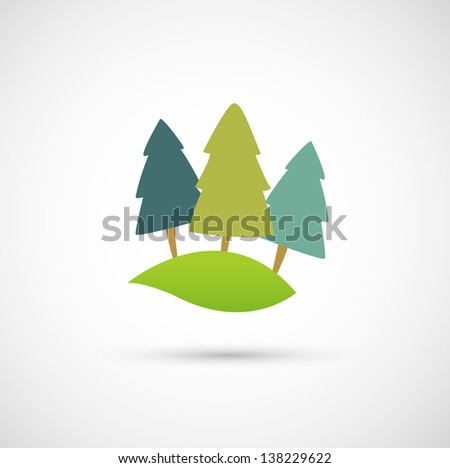 Rolling hill icon vector - stock vector