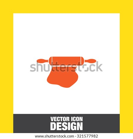 rolling pin icon - stock vector